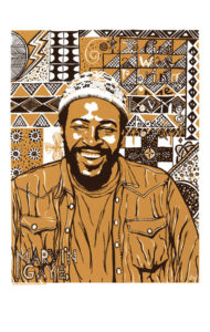 Marvin Gaye Poster by Ricardo Levins Morales