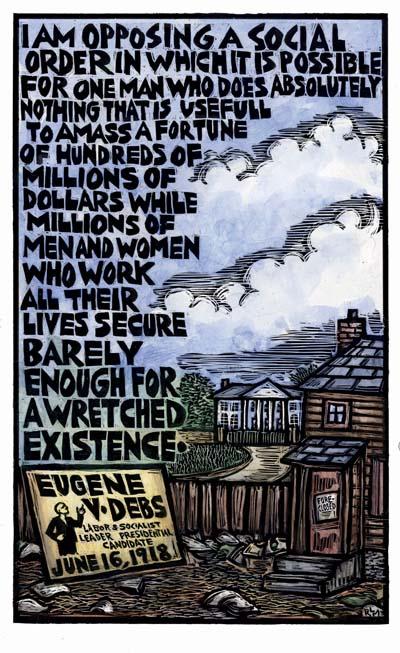Social Order - Eugene Debs - Poster by Ricardo Levins Morales