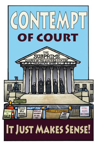 Contempt of Court - Poster by Ricardo Levins Morales