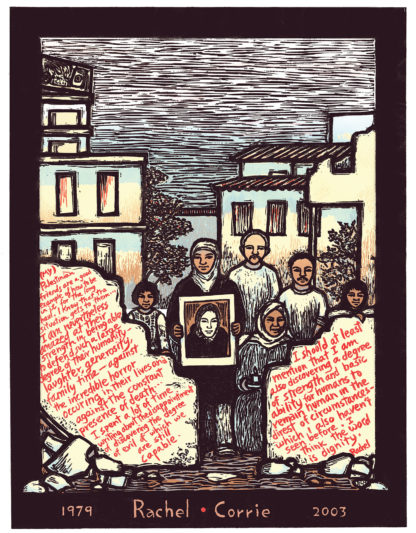 Rachel Corrie - Palestinian Human Rights Remembrance Poster by Ricardo Levins Morales