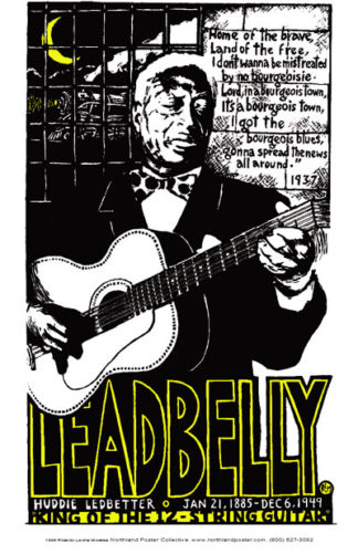 Leadbelly - Poster by Ricardo Levins Morales