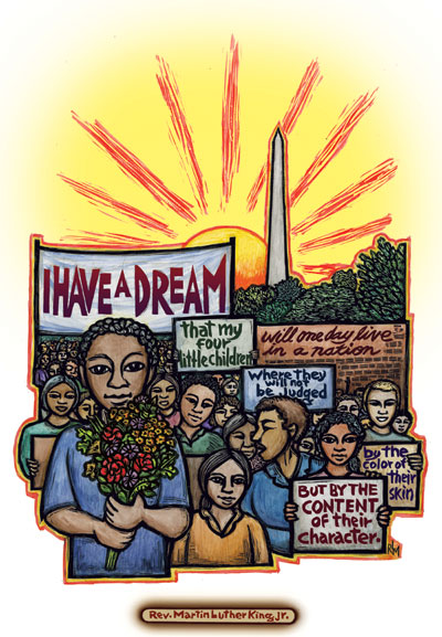 I Have a Dream - Martin Luther King, Jr. Poster by Ricardo Levins Morales