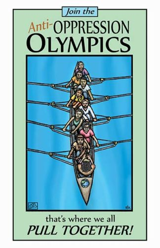 Anti-Oppression Olympics - Poster by Ricardo Levins Morales