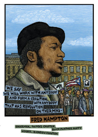 Fred Hampton Rainbow Coalition notecard