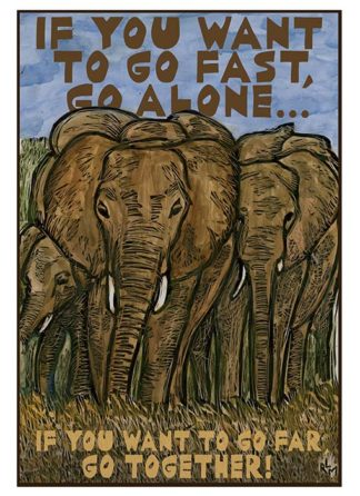 NC336 Go Together Elephants - web