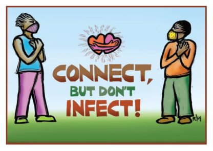 Connect, But Don't Infect! COVID19 Card