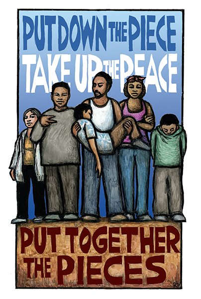 Take up the Peace - Poster by Ricardo Levins Morales Art Studio