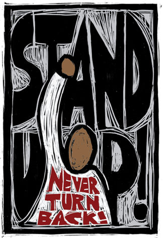 Stand Up - Artwork by Ricardo Levins Morales Art Studio