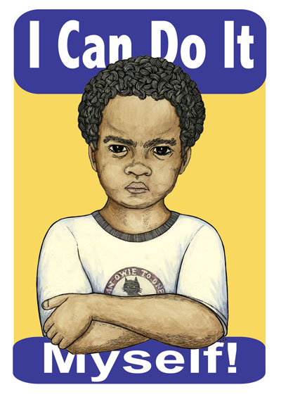 I Can Do It Myself - Youth Justice Poster by Ricardo Levins Morales