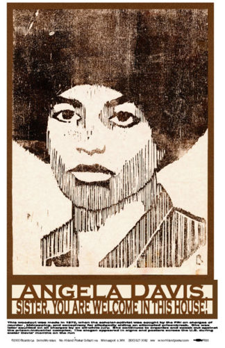 Angela Davis - Welcome in this House - Black Liberation Poster by Ricardo Levins Morales