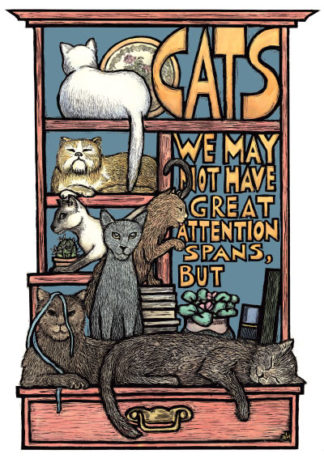 Cats (Notecard)